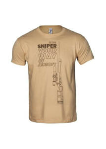 Specna Arms 100% Pamut Póló Your Way of Airsoft Sniper Coyote 02